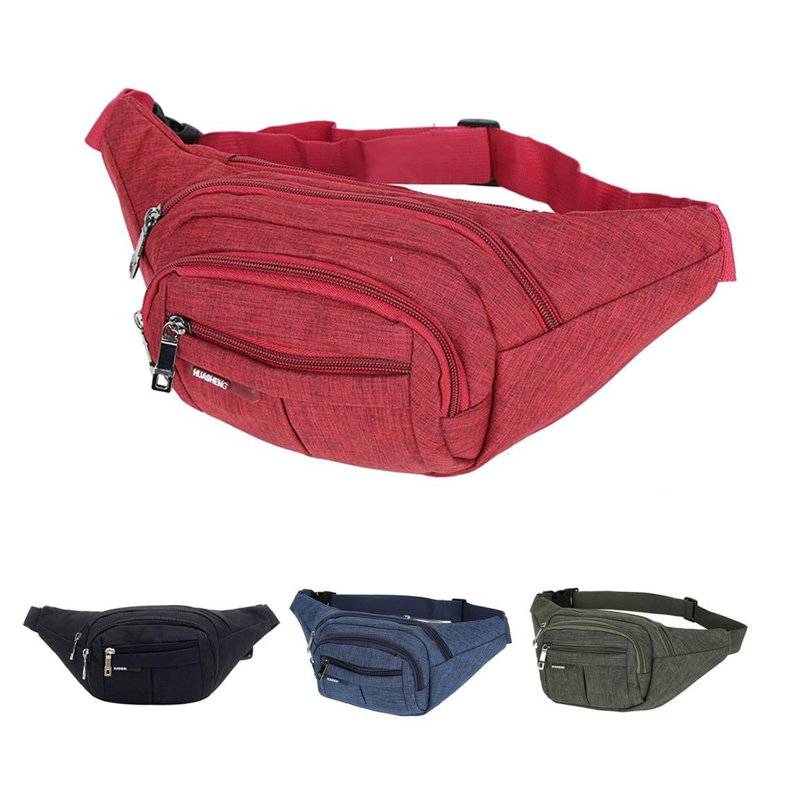 5 Colors New Unisex Waist Pack Men Women Fanny Pack Bum Bag Travelling Phone Money Pouch Banana Bags Female Belt Bags