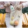 1 itemReusable Grocery Bags Fruit Vegetable Bag Washable Cotton Mesh String Organic Organizer Handbag Short Handle Net Tote