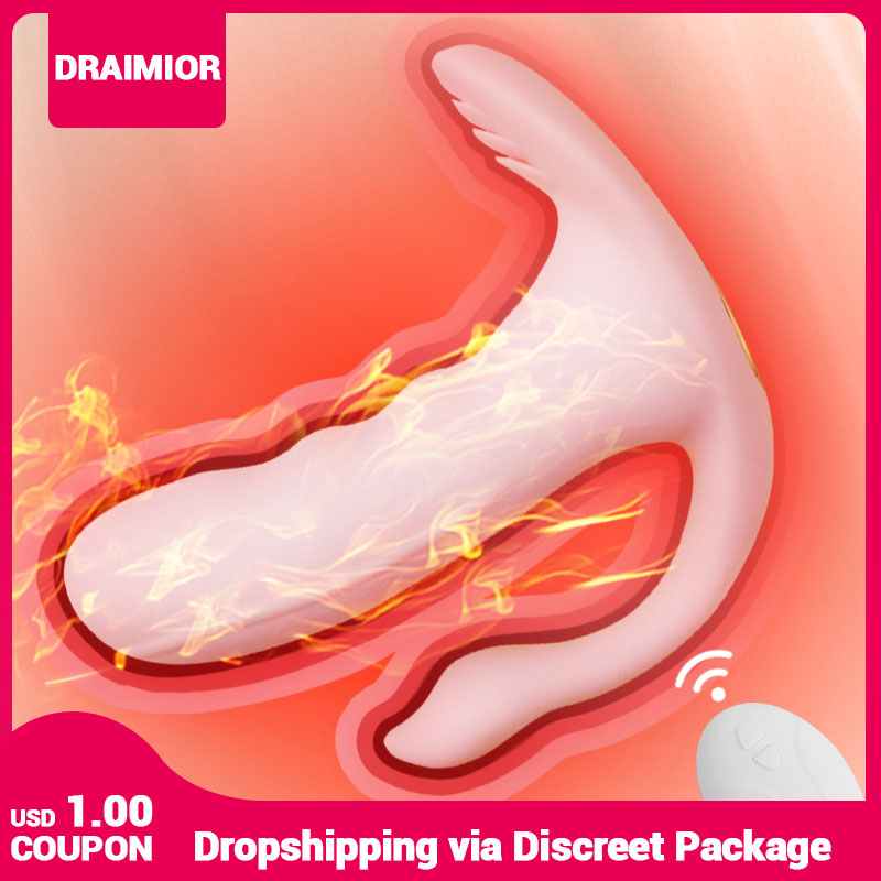 DRAIMIOR New Wireless Panties Vibrator Wearable G Spot Clitoris Stimulator Heating Vaginal Anal Orgasm Dildo Sex toy for Women