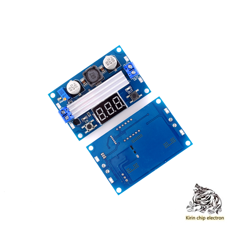 5PCS/LOT DC-DC High Power Adjustable Step-up Module 3.0 ~ 35V Rise 3.5 ~ 35V 100W With Digital Display Voltmeter