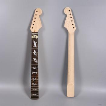 Electric Guitar Neck Replacement Maple Truss Rod 22 Fret 25.5Inch Man Wolft #S3