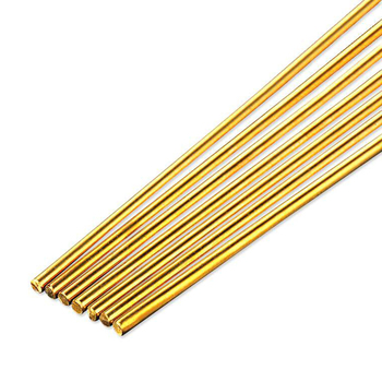 5pcs 10pcs 20pcs Brass Welding Rods Wires Sticks 500mm Length Wire Electrode Soldering Rod  For Brazing Soldering Repair Tools 5pcs black carbon rod graphite rods 99 99% graphite electrode cylinder rods bars 100x10mm for industry tools