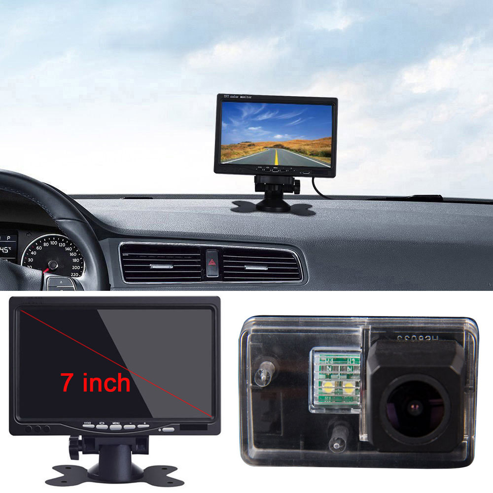 7inch Monitor Display <font><b>LCD</b></font> and camera For <font><b>peugeot</b></font> 206 207 306 307 <font><b>308</b></font> 406 407 5008 Car Rear View Back Reverse parking Camera image