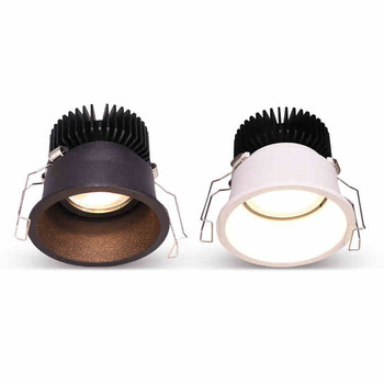 Dimmable Narrow Border Embedded Anti-Glare COB Ceiling Recessed Downlight 5w 10w 15w LED Wall Wash Light Hotel Villa Lighting