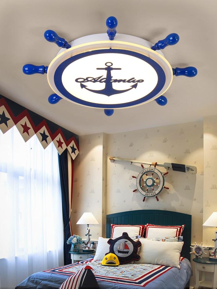 Современный промышленный ветровой пиратский корабль превратился в акриловый потолочный светильник светодиодный теплый детский