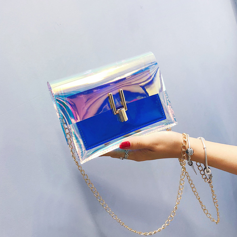 SWDF Clear Transparent Pvc Shoulder Bags In Women 39 s Totes Handbag Messenger Bag Female Ladies Clutches Beach Bag Lady Purse Sac in Shoulder Bags from Luggage amp Bags
