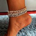 Новые модные женские ботинки свободного покроя металлическая цепь браслет для женщин и мужчин, стразы цвета: золотистый, серебристый Цвет в...