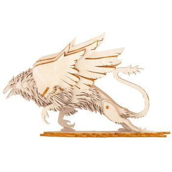 Kit de montaje DIY 3D juguetes de madera Animal grifo modelo rompecabezas Mini modelos de madera juguetes para niños Niños Accesorios de artesanía