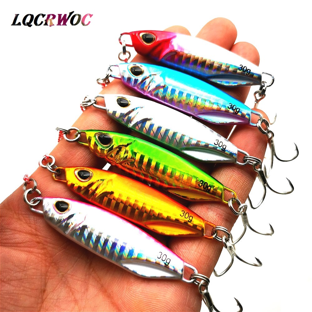 HOT NEW 10g 15g 20g 30g <font><b>40g</b></font> 50g fishing jigging lure spoon spinnerbait <font><b>metal</b></font> bait bass tuna lures <font><b>jig</b></font> lead minnow pesca tackle image