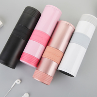 Candy Color Thermal Stainless Steel Water Bottle Car Vacuum Portable Bottle For Water Office School Coffee Mug