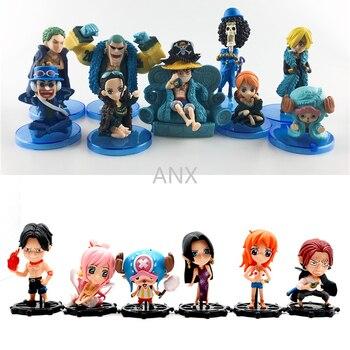 4-21CM One Piece Figure Toys Luffy Zoro Nami Boa Hancock Pirate Ship Figure PVC Action Anime 10pcs/set Figure 9pcs/set Toys цена 2017