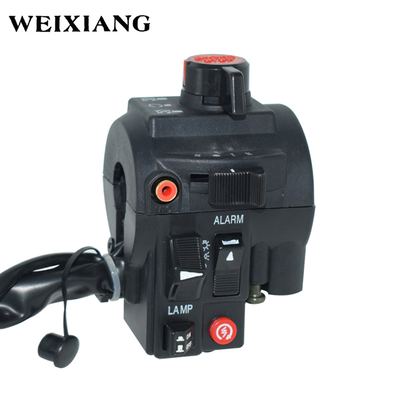 "Universal 7/8"" 22mm Motorcycle Handlebar Switches Alarm Lamp Headlight Fog Light Power Start Kill Switch Assembly Black"