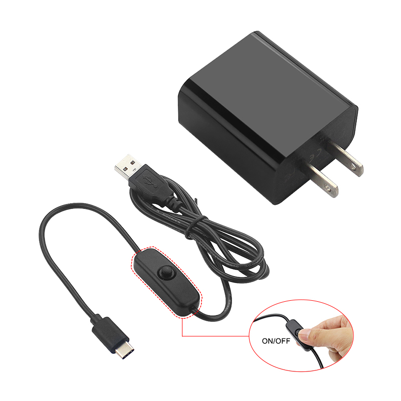 Raspberry Pi 4 Power Adapter 5V 3A Power Supply With ON/OFF Switch Charger For Raspbery Pi 4 Model B