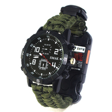 Tactical Bracelet Safety-Equipment EDC Survival Outdoor Tools Camping-Watch Multifunction