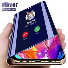 Inteligentne lustro etui z klapką dla Mi Xiaomi Redmi uwaga K40 10 9S Pro 9 8 8T 7 8A 7A K20 K30 9A 9C telefon osłona ochronna tanie tanio LISM CN (pochodzenie) Mirror Zwykły Capa Coque Funda Fundas