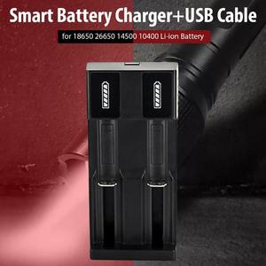 Image 3 - Smart Battery Charger+USB Cable Lithium Battery Charger Usb Battery Charger for 18650 26650 14500 10400 3.7~4.2 v Li ion Battery