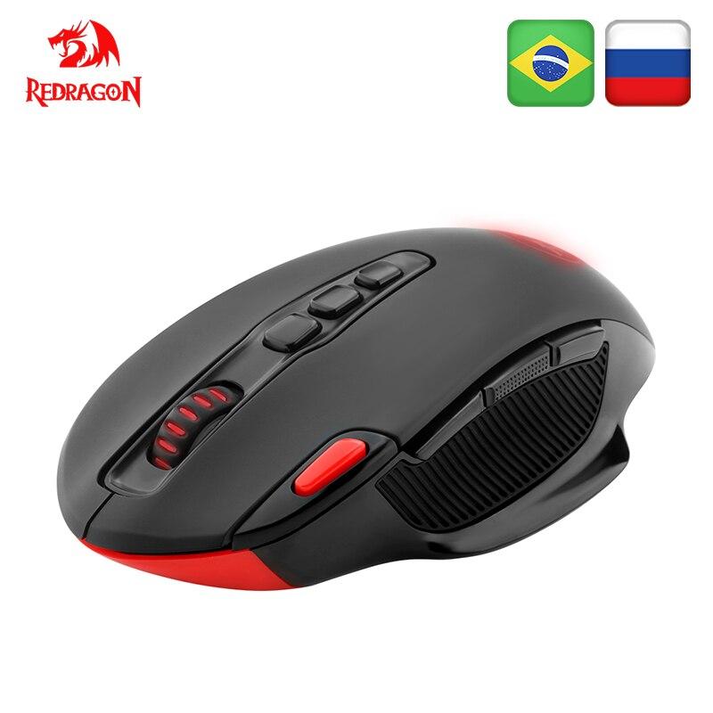 Redragon Sans Fil Souris De Jeu PC 7200 DPI 4 rétro-éclairage mode 10 boutons programmables 2.4G connexion sans fil pour ordinateur de Bureau souris