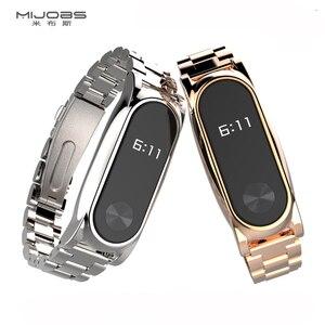 Image 5 - Mi Band 2 металлический ремешок на запястье браслет из нержавеющей стали для Xiaomi Mi Band 2 умные Аксессуары Часы Miband 5 4 3 2 браслет