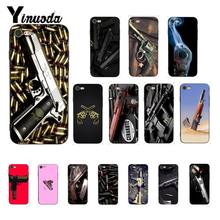 Yinuoda gun bullet Newly Arrived Black Phone Case Cover for iPhone 8 7 6 6S X XS MAX 5 5S SE XR 11 Pro Max(China)