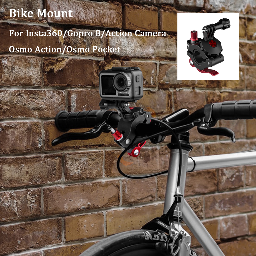Sunnylife Bicycle Bar Mount Clip Holder Bike Clamp for Insta360 ONE X//DJI OSMO