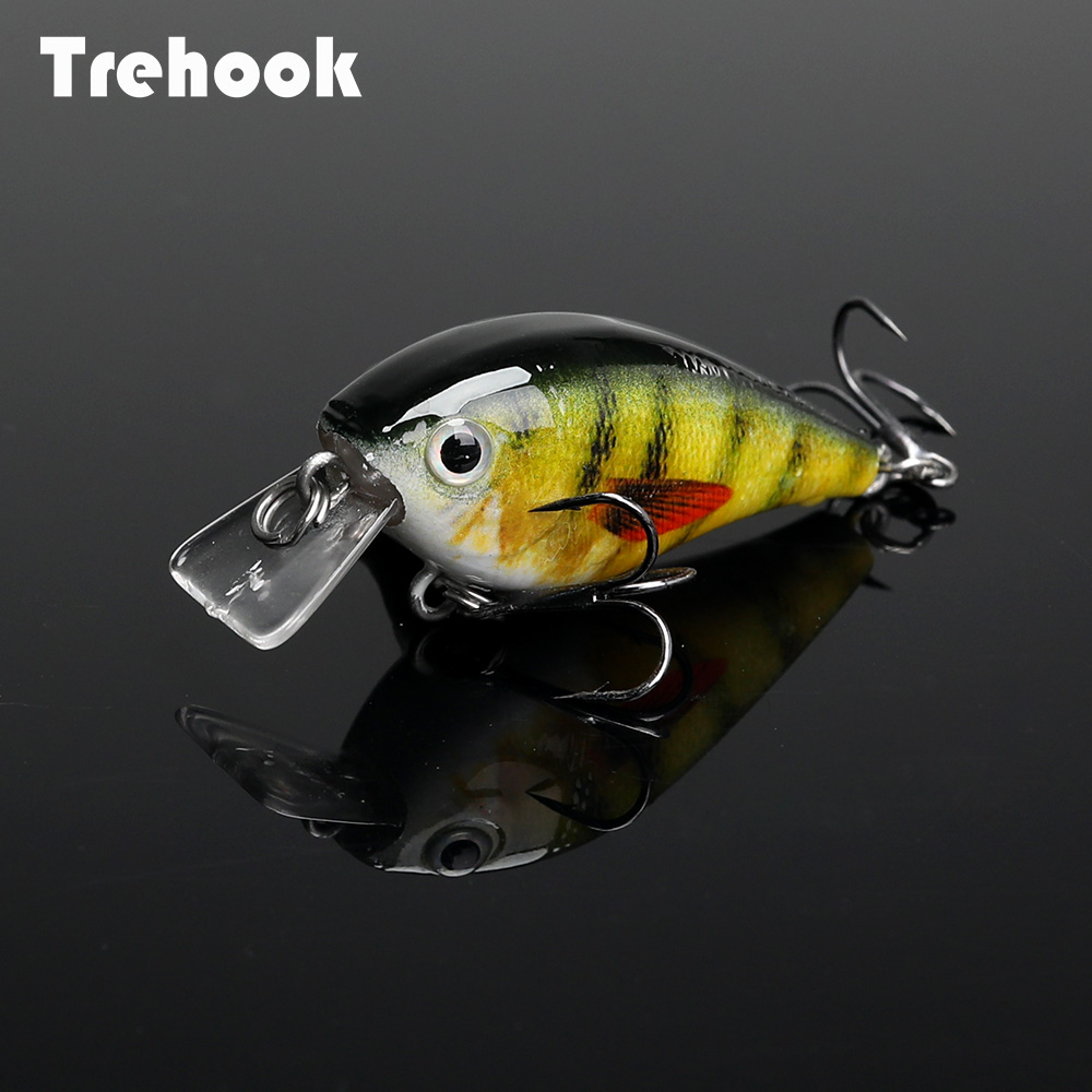 TREHOOK 4.5cm 6g Mini Minnow Wobblers Crank Fishing Lure Artificial Minnow Jerkbait Floating Hrad Lure For Trout Fishing Bait 03