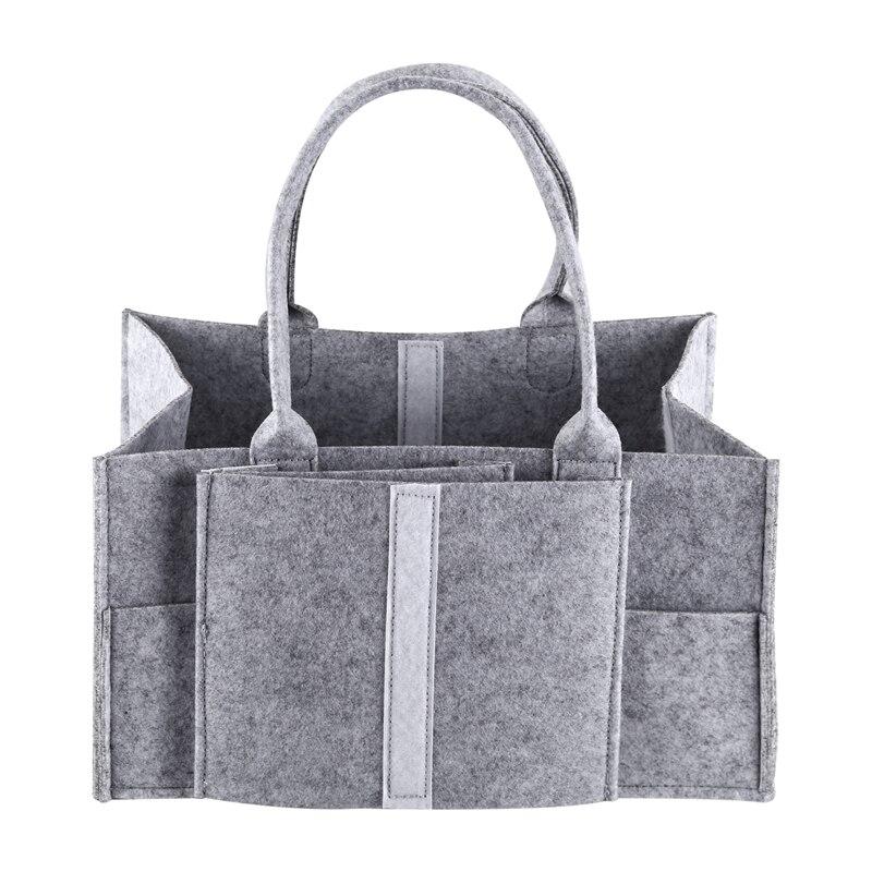 Nursery Storage Bin-Baby Diaper Caddy-Nursery Wipes Storage Bag-Portable Basket Nappy Organizer