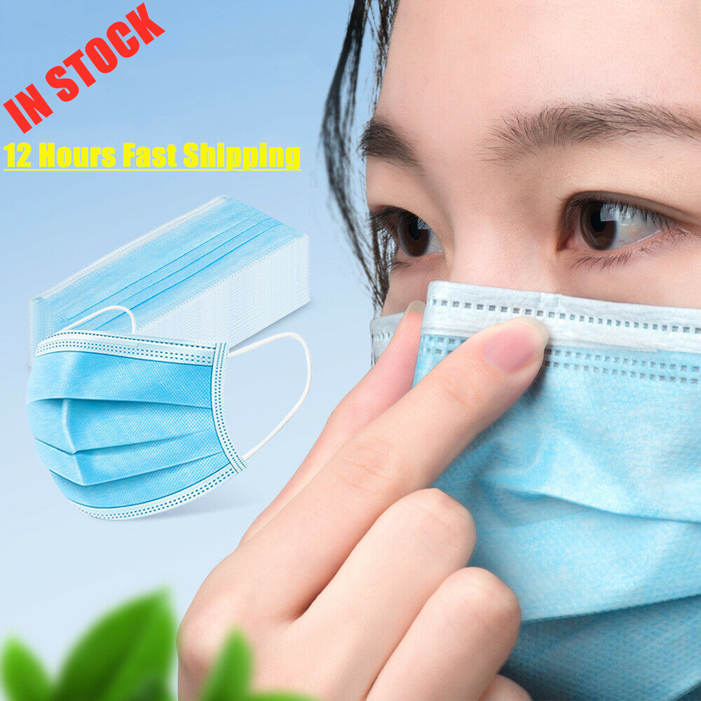 3 Layers Filter Profession Anti Virus Earloop Face Mask Mascarillas 12 Hours Fast Shipping In Stock