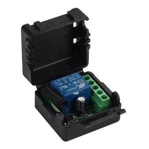 Image 5 - 433 433mhzのユニバーサルrfリモコンdc 24v 1CHリレー受信機モジュールガレージ/ドア/ライト/led/送風機/モーター/信号伝送