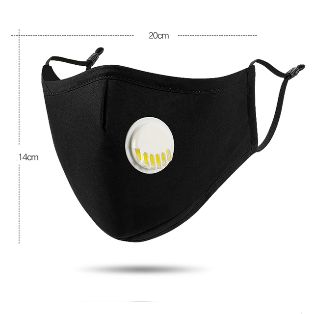 Anti dust-masks PM 2.5 mask Cotton dust  training masks wind proof mouth-muffle flu face masks Activated carbon filtration Black 2