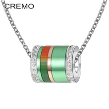 Cremo New Trendy Necklaces & Pendants Steel Chain Choker Necklace Jewelry Colorful DIY Crystal Pendant for Women