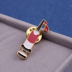 Doctor Nurse Style Fashion Syringe Pin Medical Equipment Tool Jewelry Brooch Badge Creative Enamel Collar Bag Pins Jewelry Gift(China)