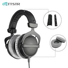 IMTTSTR wkładki do uszu DT770 DT880 DT990 PRO dla Beyerdynamic poduszka zderzak pokrywa wymiana nauszniki poduszka rękaw słuchawki