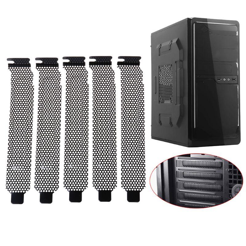 5PCS 5PCS Ventilation Deflector PCI Slot Cover Frame Chassis Bits Block Cooling Fan Dust Filter Ventilation PC Computer Case
