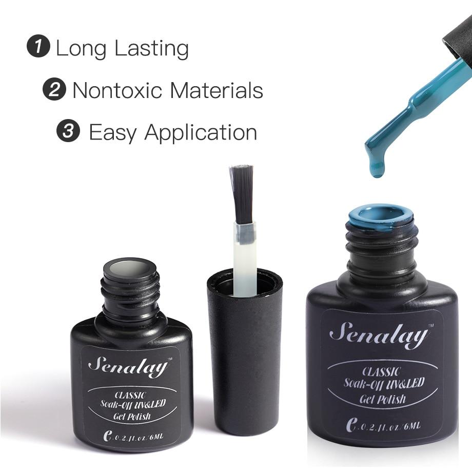 SENALAY Nail Gel Polish Set 4PCS/6PCS Kit Semi Permanent Soak