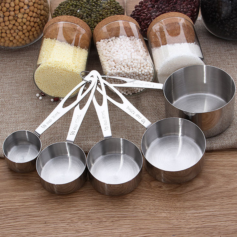 5pcs/Set Measuring Spoons Stainless Steel Spoon Scale Coffee Powder Scoop Durable Kitchen Scale Baking Tools bilancia da cucina