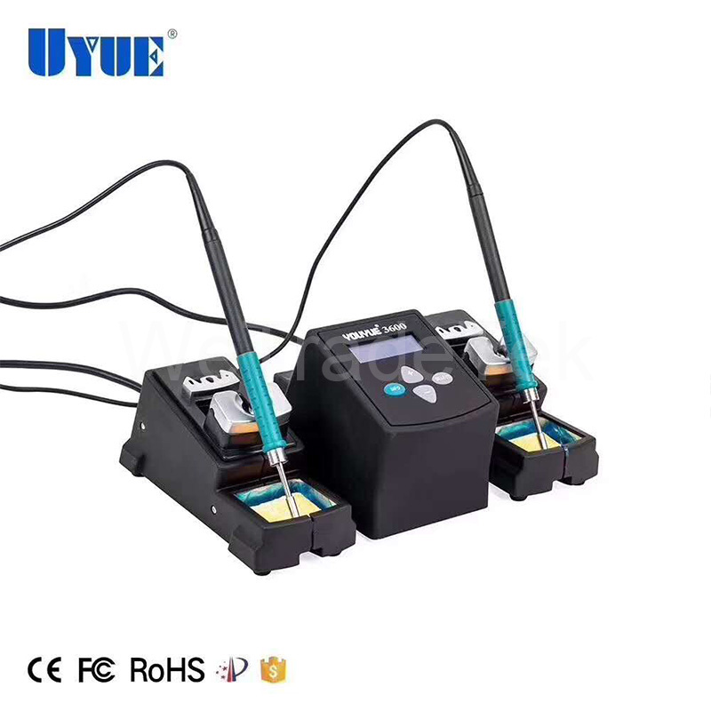 UYUE 3600 Lead Free Solder Station 75W Constant Dual Solder Iron Rework Station For Phone Repair Welding Station With Sleep Mode