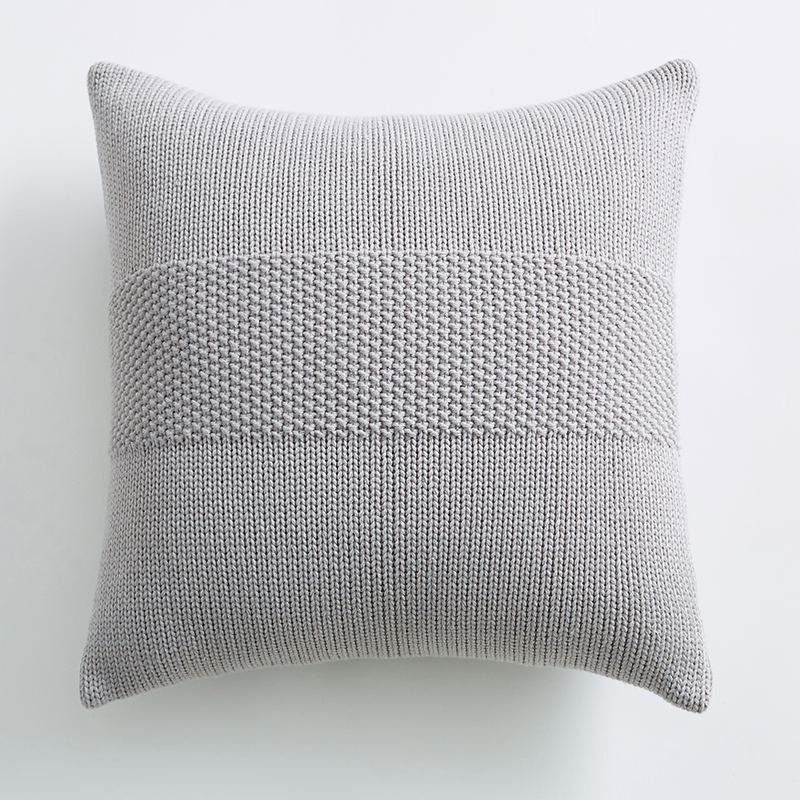 knit cushion cover 45x45cm solid pillow cover cotton pink ivory grey cream home decoration square pillow case for sofa bed