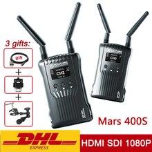원래 Hollyland 화성 400s 무선 전송 이미지 HD 비디오 송신기 수신기 400ft HDMI SDI 1080P VS 화성 300 Moma 400
