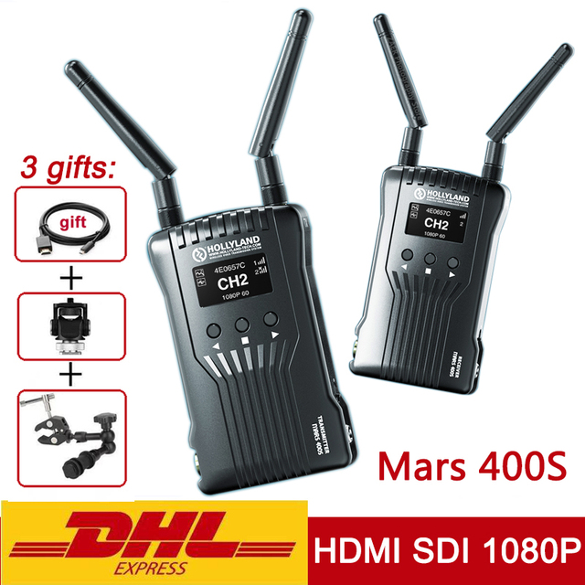Original Hollyland Mars 400s Wireless Transmission Image HD Video Transmitter Receiver 400ft HDMI SDI 1080P VS Mars 300 Moma 400