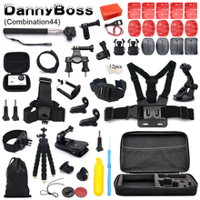 For Gopro Accessories Set for go pro hero 7 6 5 4 3 kit for Eken h8r / for xiaomi for yi EVA case sport camera accessories