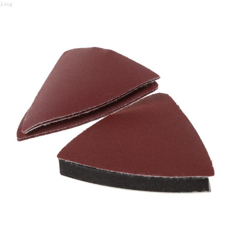 26 Pcs Sanding Paper & Triangular Sanding Pad For Fein Dremel Power Multi Tools U50A