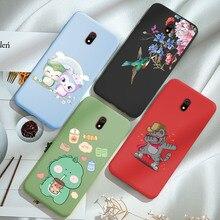 Redmi 8 Case Phone Soft Silicone Cartoon Sloth Back Cover FOR Xiaomi Redmi 8 Redmi8 Matte TPU Coque Candy Color Cute Capa