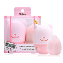 Cat Shape Silicone Makeup Sponge Holder Beauty Makeup Egg Drying Case Portable Cosmetic Puff Carrying Case Blender Sponge Holder 2 pcs makeup sponge holder drying stand