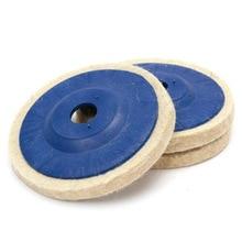 3Pcs 100mm 4Inch Wool Polishing Wheel Felt Buffing Grinding Disc Glass Metal Polishing Pads For 100 Angle Grinder