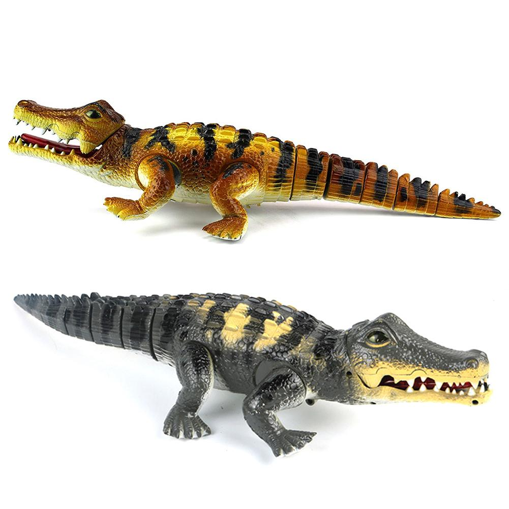 Kids Simulation Walking Electric Toy Crocodiles Electric Model With LED Music Interactive Toys For Kids