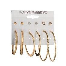 Liste&Luke Hot Fashion Hoop Earrings Ear Ring Set Combination Of 6 Sets For Gift Dropshipping Apr20