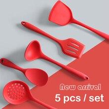 Scoop Spoon-Set Spatula Kitchen-Tools Cooking Silicone 5 Rice Heat-Resistant Keukenhulpjes