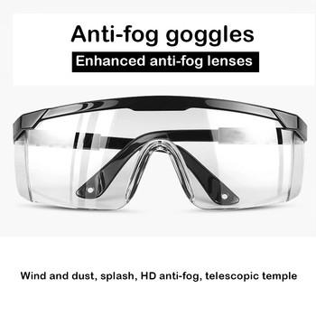 Ochrona przezroczyste poliwęglanowe standardowe okulary ochronne-99 9 ochrona przed promieniowaniem UV ochrona przed kurzem i wstrząsami ochrona szkła chemicznego tanie i dobre opinie Jeden rozmiar Unisex Jasne