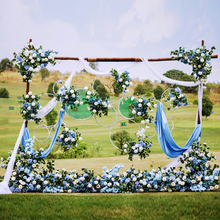 цены Wedding Flower Frame Ring Wrought Iron Floral Artificial Flower Wall Stage Wrought Iron Decorative Frame Decorative Wreath DIY