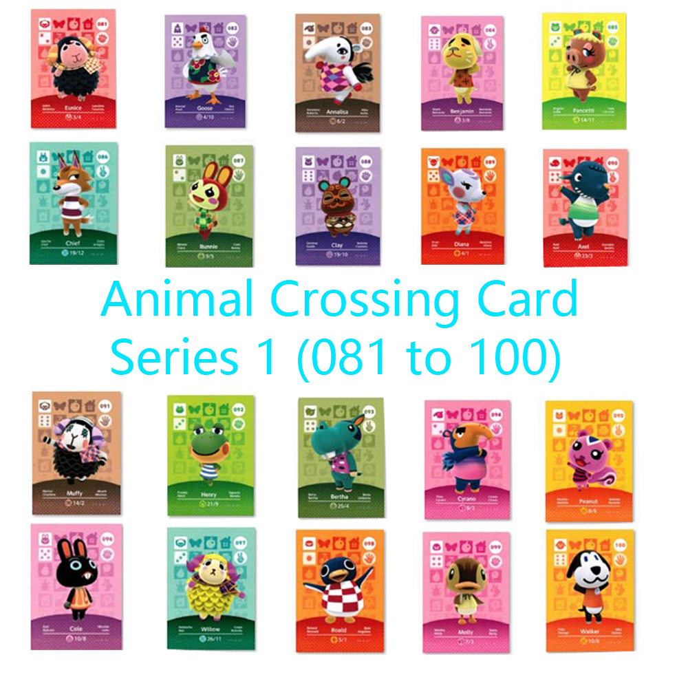 Animal Crossing Card Amiibo Locks Nfc Card Work For NS Games Series 1 (081 To 100)